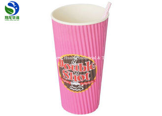 No Leakage Ripple Wrap Coffee Cups Double Wall With Insulating Air Pockets