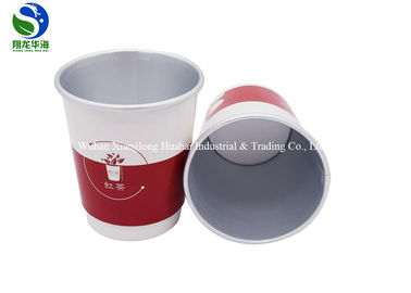 Aluminum Foil Double Wall Insulated Paper Coffee Cups Moistureproof Fresh Keeping